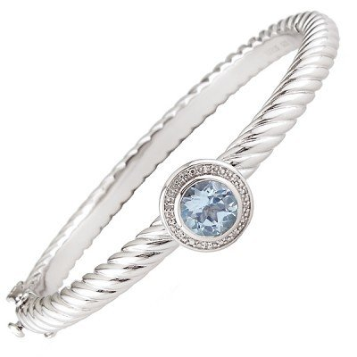 Lau Blue topaz cable bracelet B0908BT