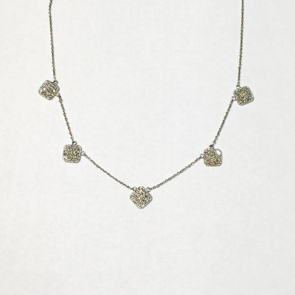 IJM Diamond 5 Station Necklace