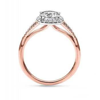 Coast LC5392 Rose Gold Split Shank Halo