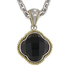 ACP130 Black Onyx and Diamond Pendant