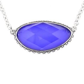 ACN105 Doublet Blue Agate Necklace