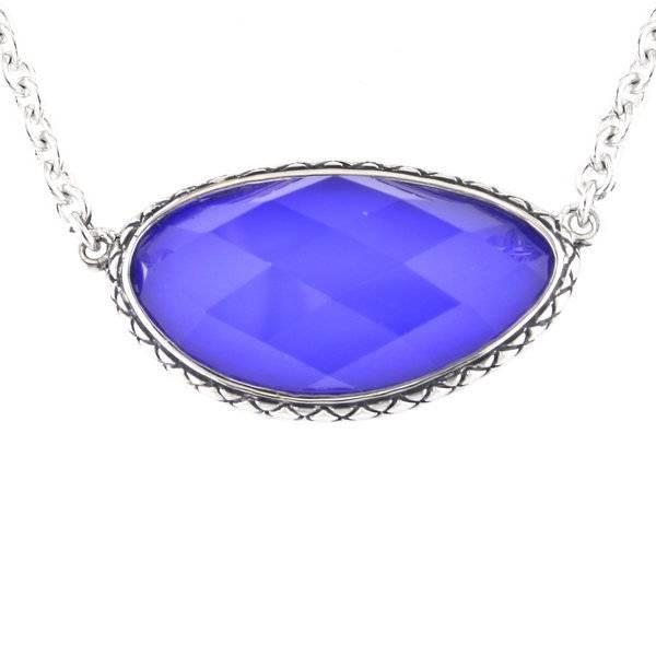 Andrea Candela ACN105 Doublet Blue Agate Necklace