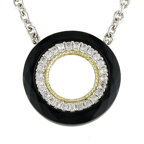 Andrea Candela ACN99 Black Onyx and White Topaz Necklace
