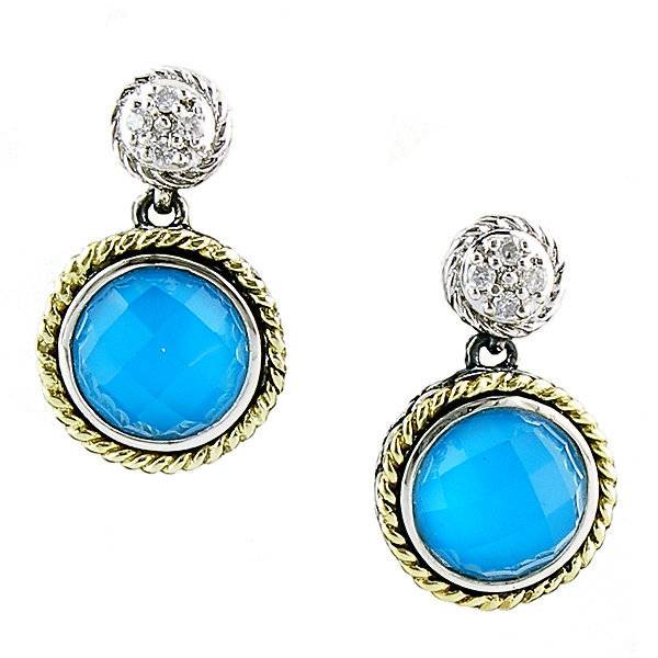 Turqouise And Diamond Drop Earrings Turquoise Jewelry Freedman