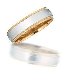 NT08014 Two-Toned Wedding Band