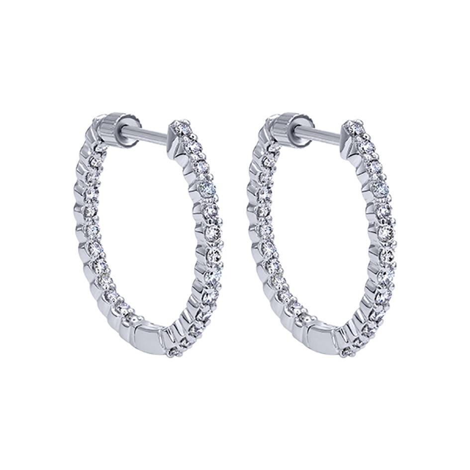 Gabriel & Co Diamond Hoop Earrings EG10861