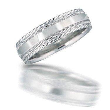 Novell N00136 Engraved Milgrain Wedding Band