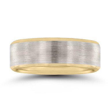 Novell NT16648 Brushed Two-Toned Wedding Band