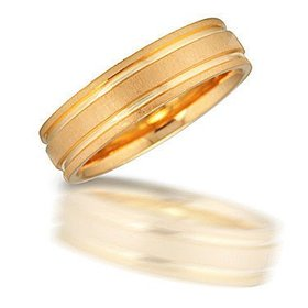 N00907 yellow gold band