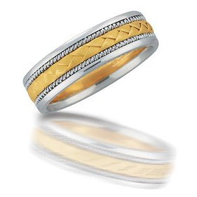 NT03067 gent's two toned wedding band