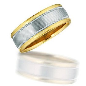 NT00913 two toned gent's wedding band