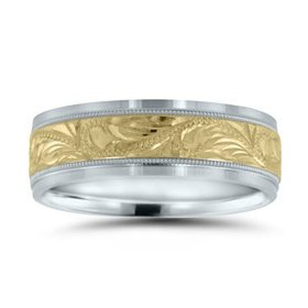 NT16615 two toned wedding band