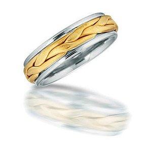 NT01706 men's braided wedding ring