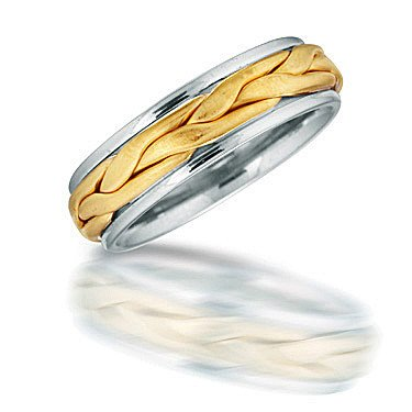 Novell NT01706 men's braided wedding ring