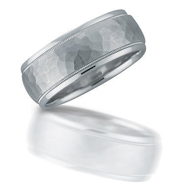 Novell N01092 gent's hammered wedding band