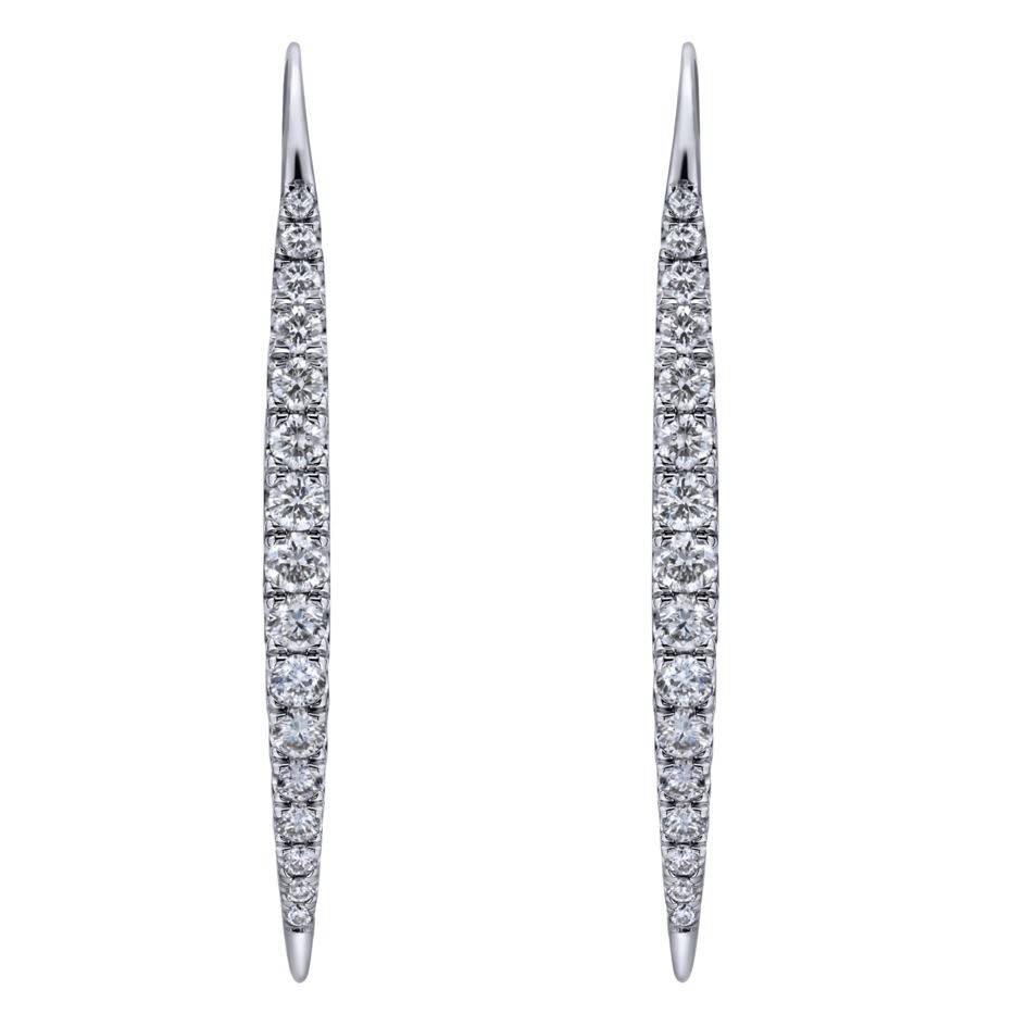 Gabriel & Co EG12630 diamond drop earrings
