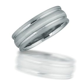 N01036 gent's grooved wedding band