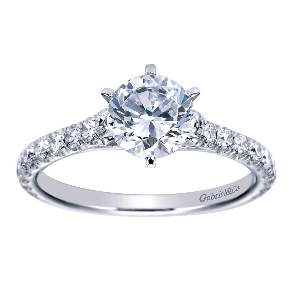 e239e27971451 4-Prong Diamond Band Engagement Ring