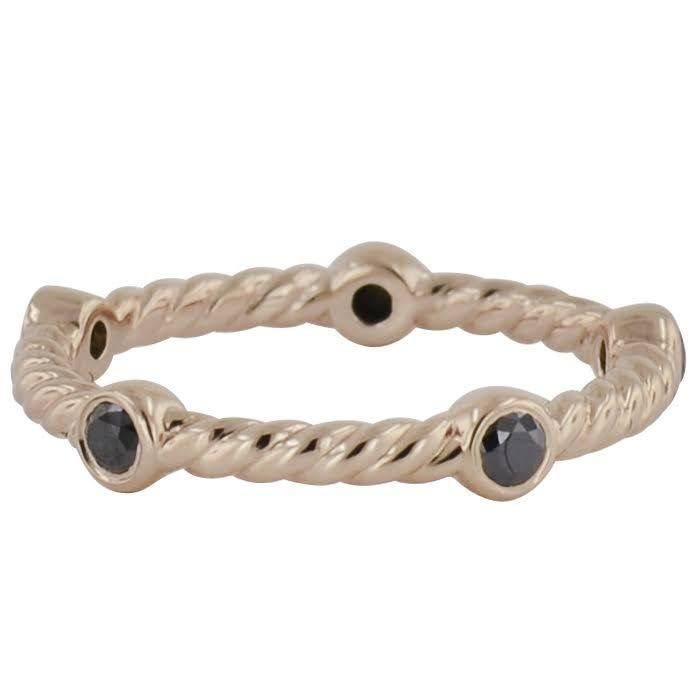 Novell Novell LD16870 cable style stackable band with black diamonds