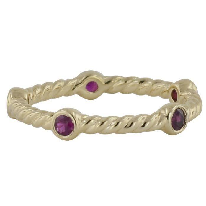 Novell LD16870 cable style stackable band with rubies