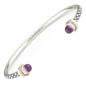 ACB294 rose quartz & diamond bangle bracelet