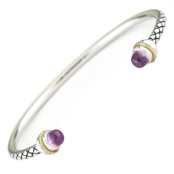 Andrea Candela ACB294 rose quartz & diamond bangle bracelet