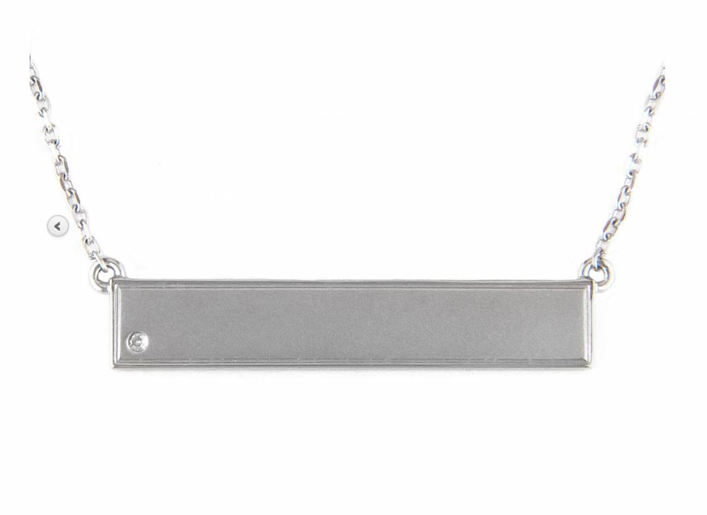 N0952SL silver bar necklace