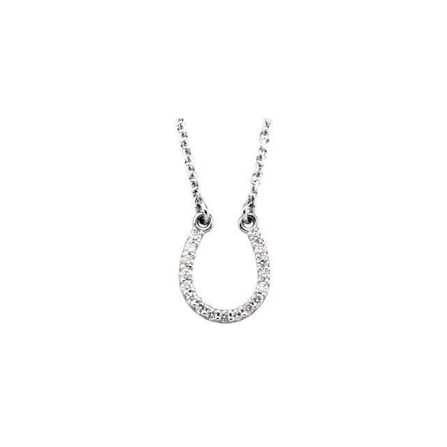 Stuller Diamond horseshoe necklace