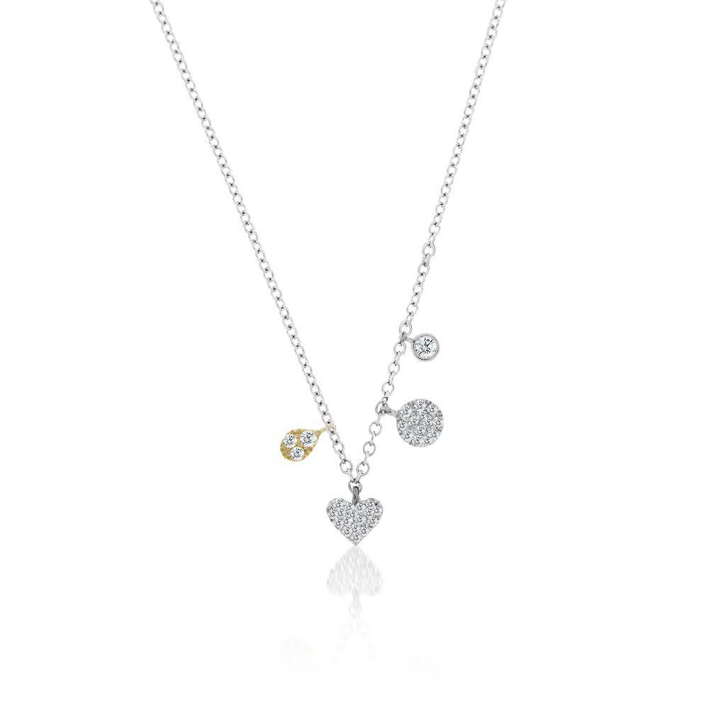Meira T Mini heart charm necklace