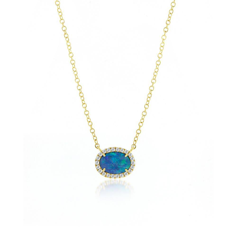 Australian Opal & Diamond Necklace