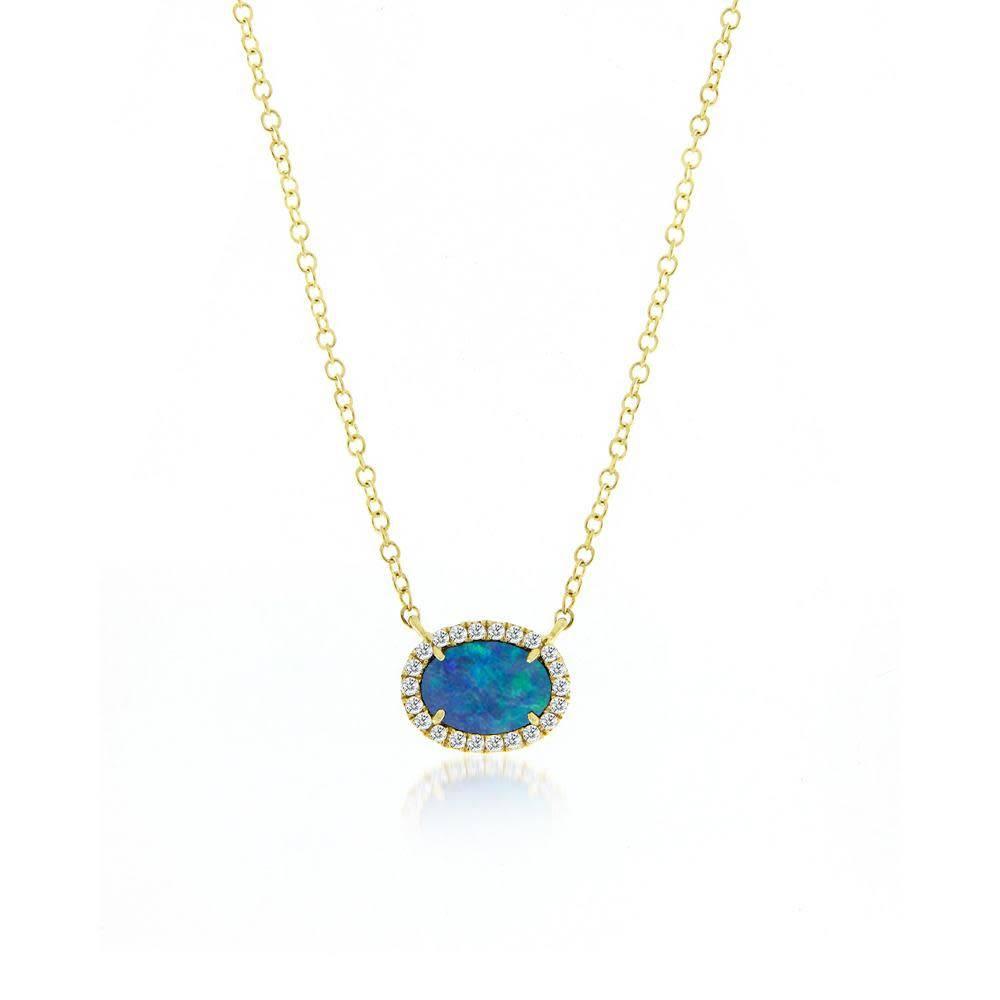 Australian Opal & Diamond Necklace