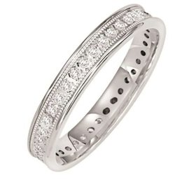 33-16968 14k white gold milgrain channel set eternity band