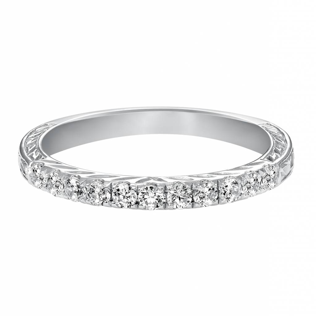 33-9125 14kt white gold diamond band