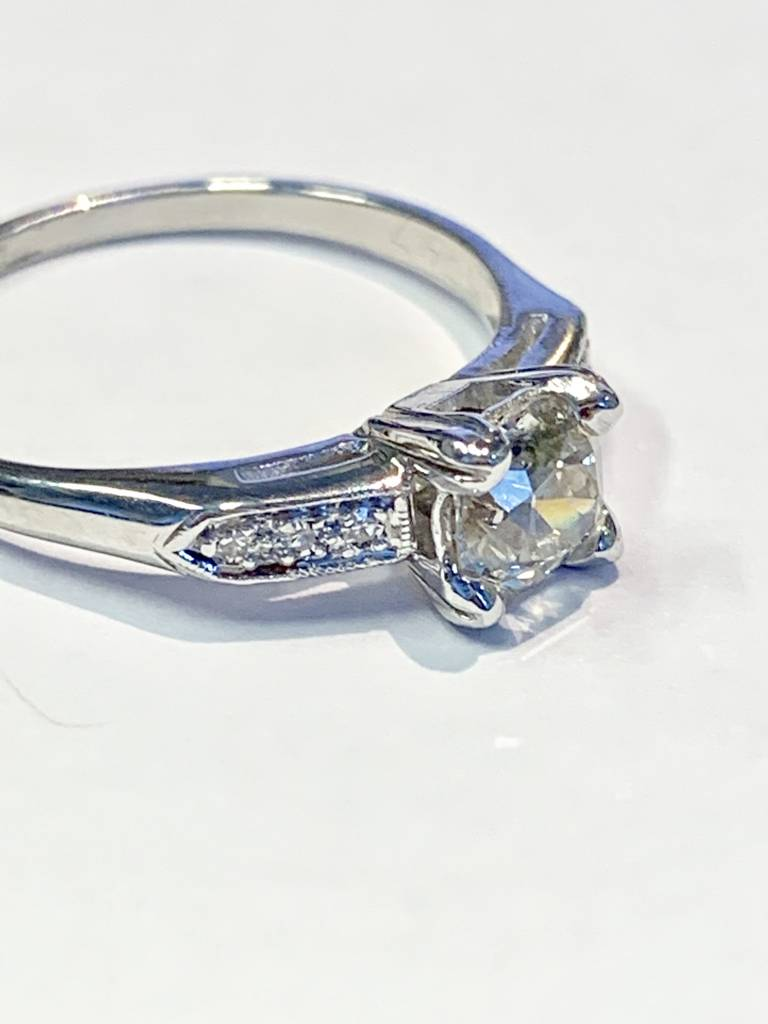 Freedman 0.70 carat European cut diamond in Platinum diamond setting
