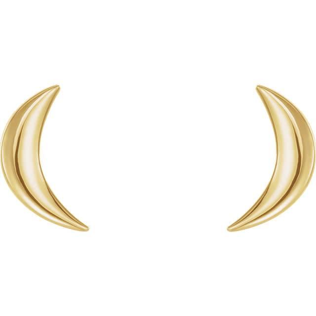 Stuller 14kt Gold Crescent Moon Stud Earrings