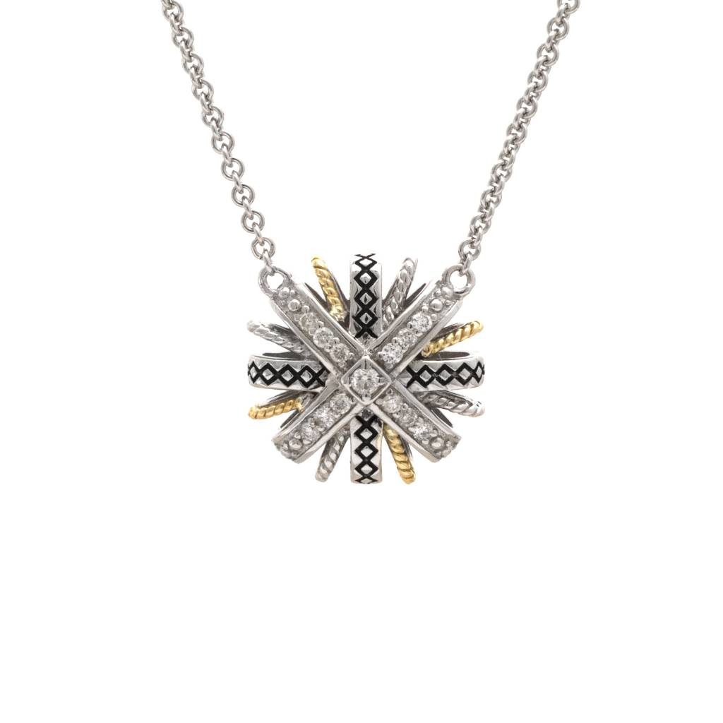 ACN155 diamond pendant necklace