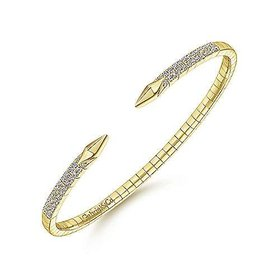 BG4183 Open Front Diamond Bangle