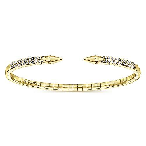 Gabriel & Co BG4183 Open Front Diamond Bangle