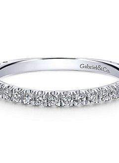 LR50992  14kt White Gold Diamond Band 0.42 carat total