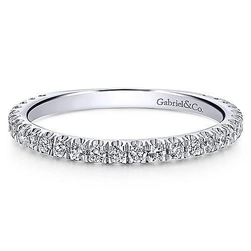 Gabriel & Co LR50992  14kt White Gold Diamond Band 0.42 carat total