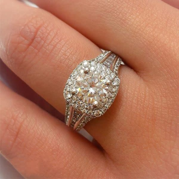 Gabriel & Co ER11760 Henrietta Double Halo Engagement Ring Setting