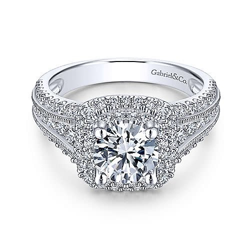 ER11760 Henrietta Double Halo Engagement Ring Setting
