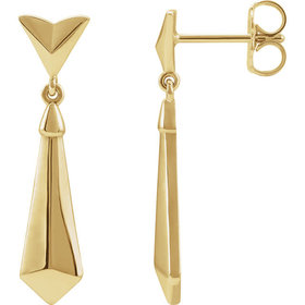 14kt yellow gold geometic dangle earrings