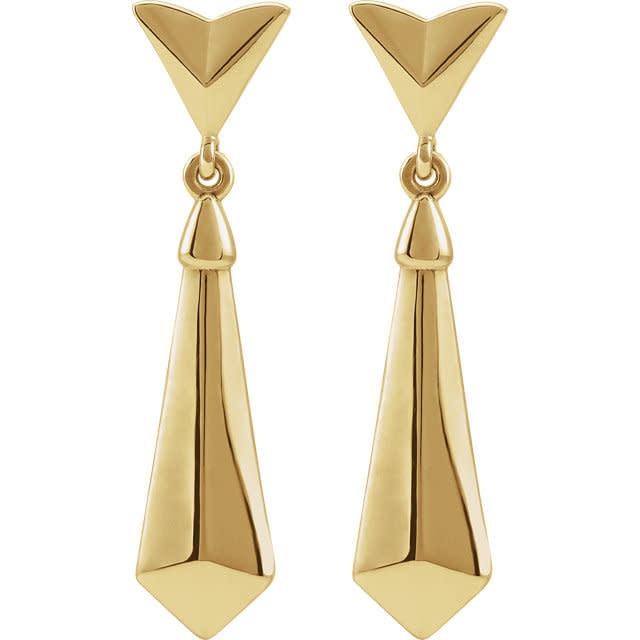 Stuller 14kt yellow gold geometic dangle earrings