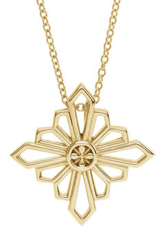 14kt Gold Geometric Shapes Necklace