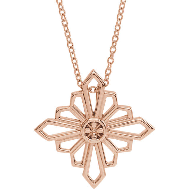 Stuller 14kt Gold Geometric Shapes Necklace