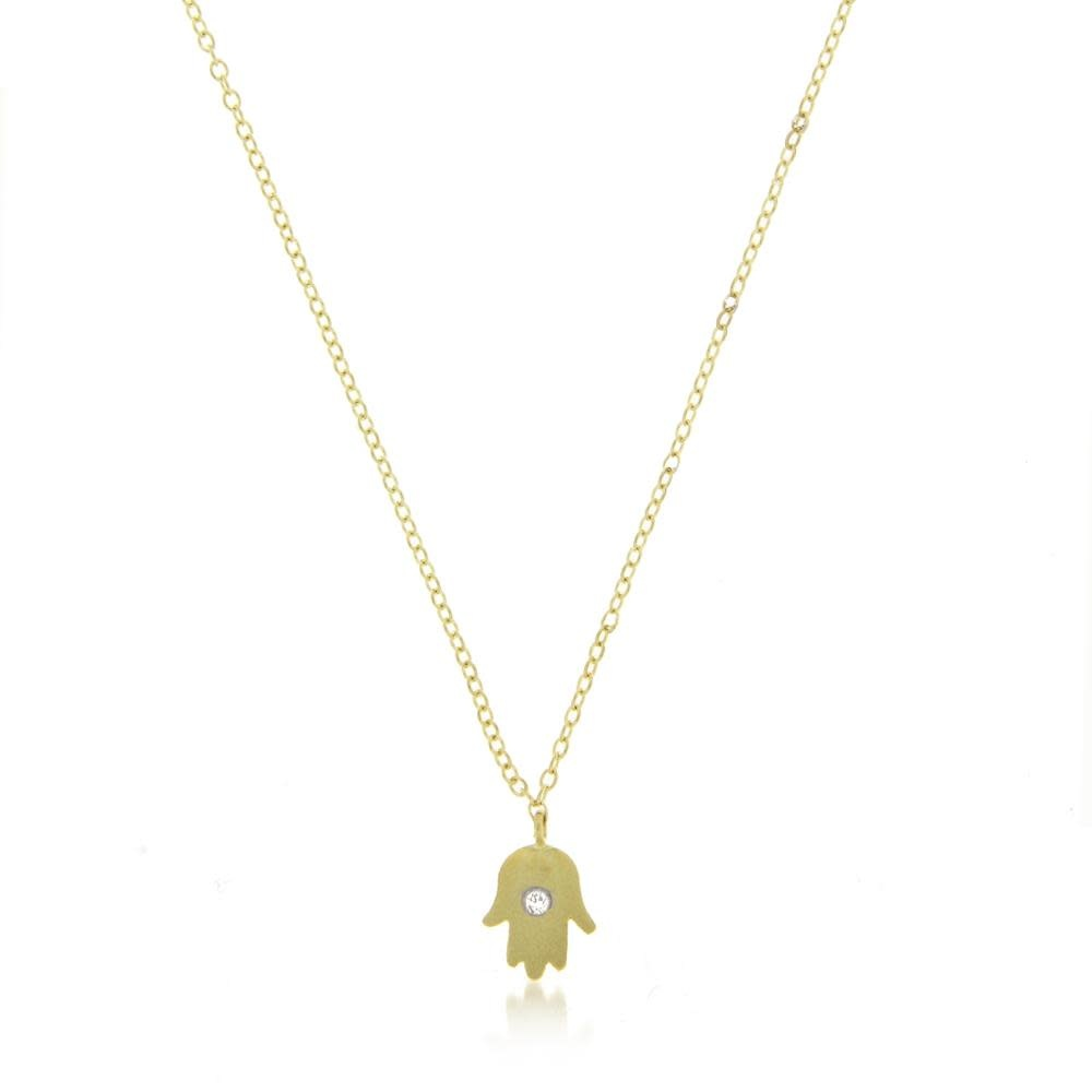 Meira T Gold Hamsa Hand Necklace