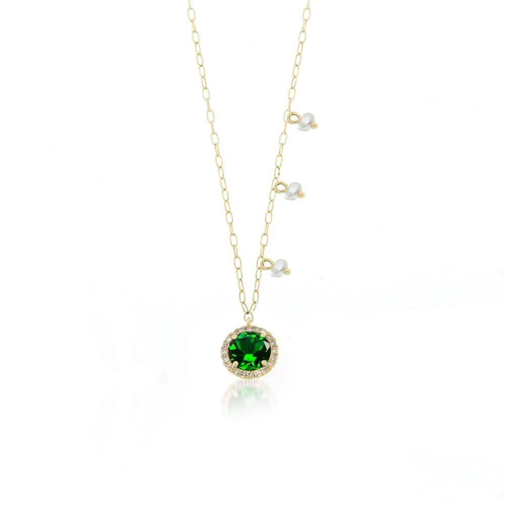 Chrome Tourmaline Delicate Necklace