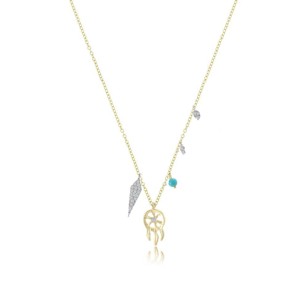 Meira T Bohemian Dream Catcher Necklace