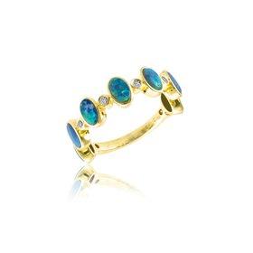 14kt Yellow Gold Opal Half Band